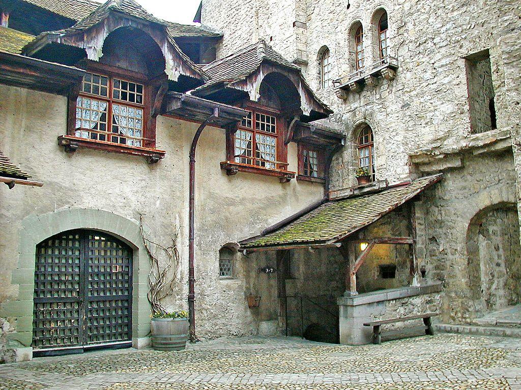 Chateau De Chillon On The Lake Geneva Swiss