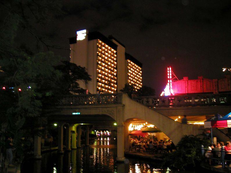 Texas San Antonio Illuminated River Walk