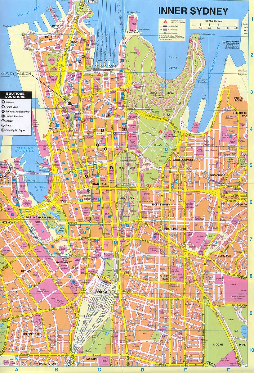 (1)Smaller size of 820x1200 ... Sydney City Map