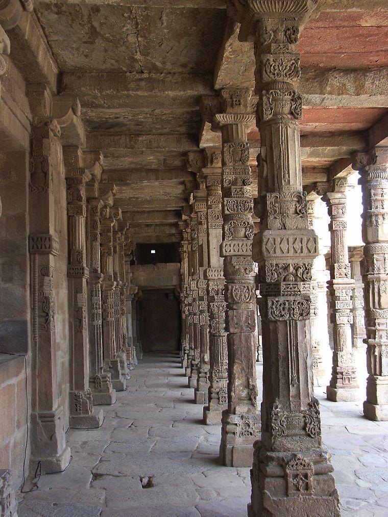 Qutubminar red minaret in dehli india