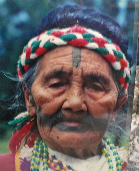In the old days, the Atayal and the Sedeq wore facial tattoos;